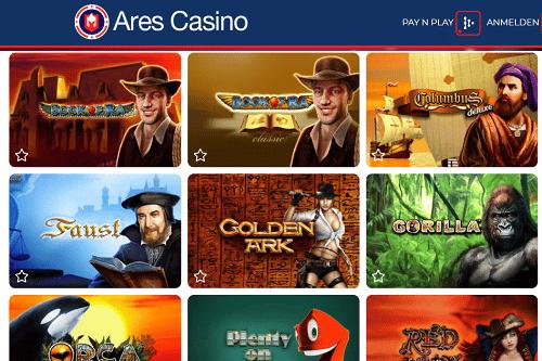 Ares Casino 400% Bonus Novoline