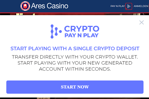 Ares Casino Pay'n Play