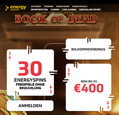 Energy Casino 30 Freispiele