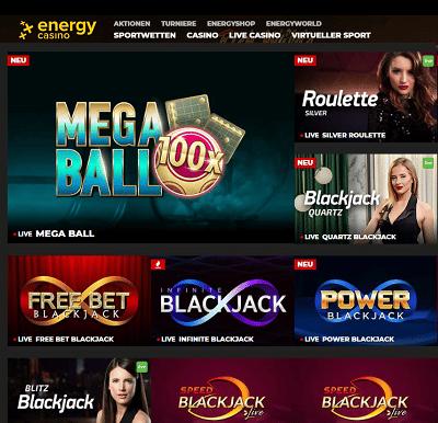 Energy Casino Live spiele