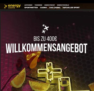 Energy Casino Willkommen Bonus