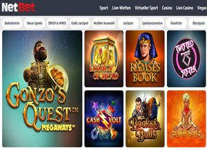 NetBet Spieleauswahl