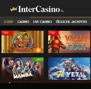 Intercasino Spiele