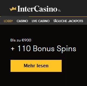 Intercasino Willkommen Bonus