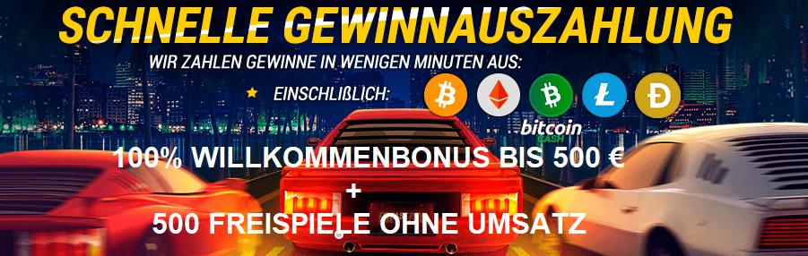 Willkommen Bonus und Freispiele Online Casinos