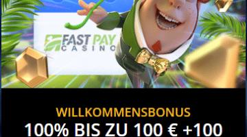 FastPay Bonus mit schnellen Auszahlungen