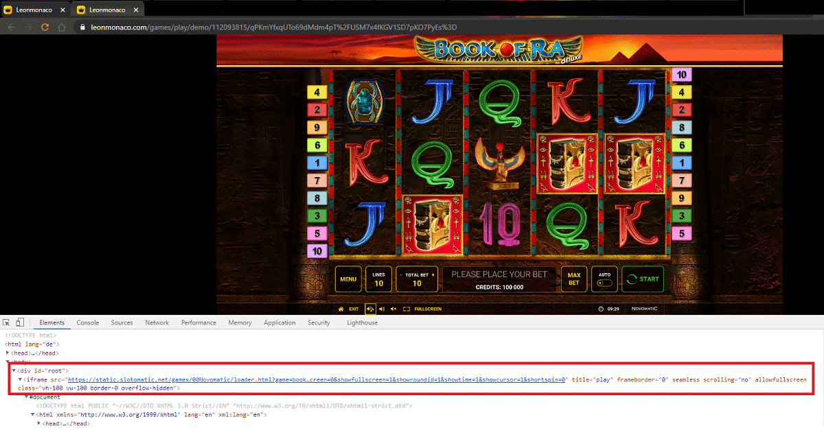 Leo Monaco Casino Fake Slots