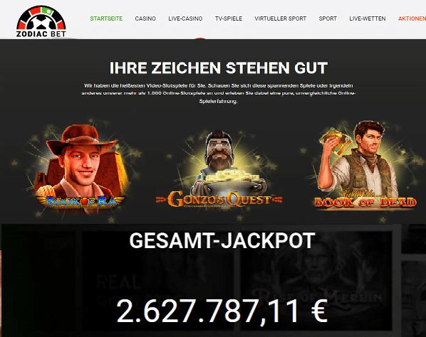 Novoline Spielen aus Deutschland im Zodiac Bet Casino