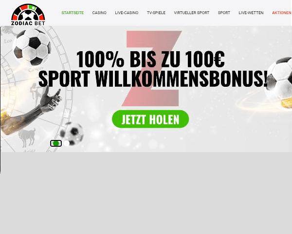 Sportwetten Bonus Zodiac Bet