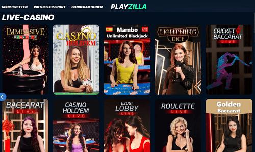 Playzilla Live Casino